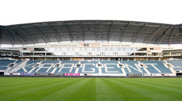De Ghelamco Arena is dit seizoen het enige Belgische stadion waarin de groepsfse van de UEFA Champions League zal te zien zijn. PHOTO DAVID CATRY