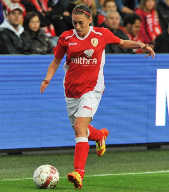 Audrey Demoustier, opnieuw een vaste pion bij Standard, zit nu ook terug in de selektie van de Belgian Red Flames. Foto - David Catry