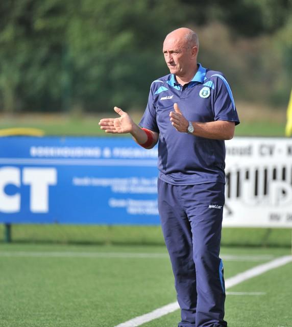 Vic Crabbé, de trainer van KSK Heist, zorgde voor de juiste taktiek tegen leider RSC Anderlecht! Foto - David Catry