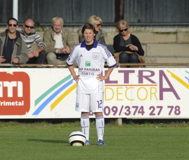 Megane Lerinckx zette het beloftenteam van RSC Anderlecht op een beslissende voorsprong tegen Tongeren. Foto - Dirk Vuylsteke