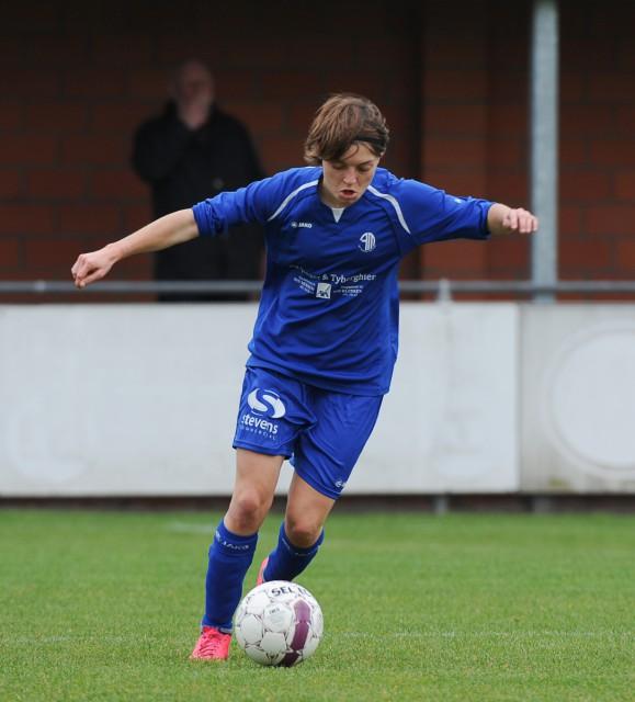 Debbie Decoene zette DV Famkes Merkem op weg naar winst op bezoek bij het beloftenteam van RSC Anderlecht. Foto - Dirk Vuylsteke