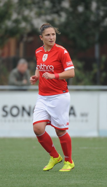 Sara Yüceil scoorde voor het beloftenteam van Standard op bezoek bij KAA Gent Ladies B. Foto - Dirk Vuylsteke