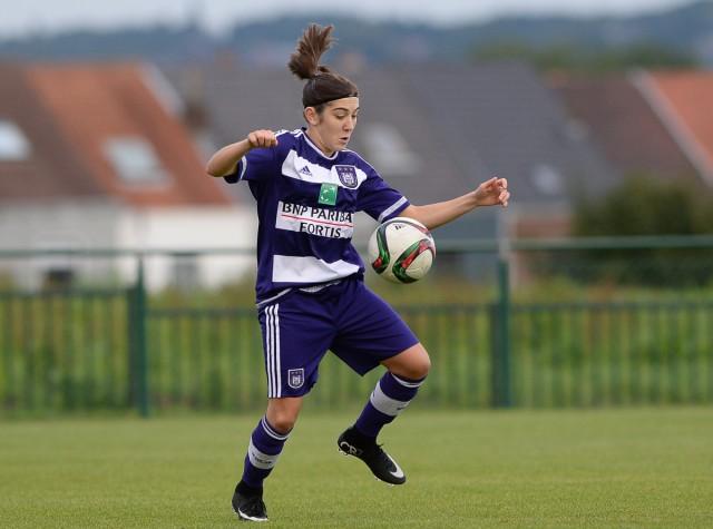 Noémie Gelders viel in en werd de matchwinnaar voor RSC Anderlecht op bezoek bij Ladies Genk! Foto - David Catry