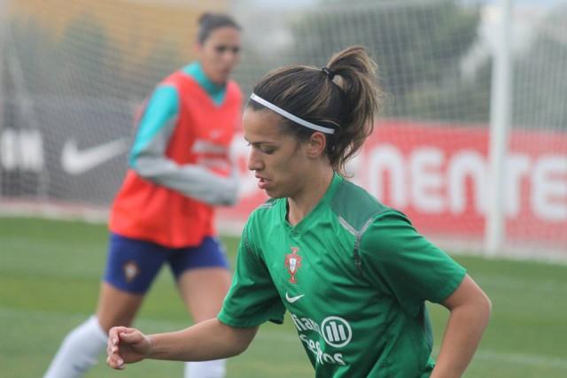 Solange Carvalhas op training met Portugal. Foto - (c) MamPict