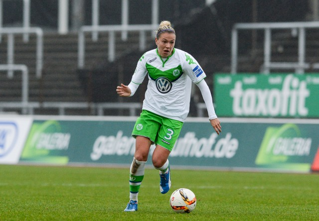 De Hongaarse international Zsanett Jakabfi lukte 2 doelpunten voor VfL Wolfsburg op bezoek bij Brescia! Foto - David Catry