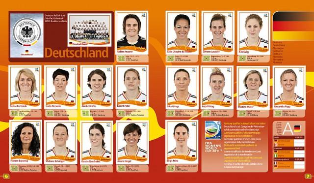 Het Duitse nationale vrouwenteam voor het WK 2011 in eigen land. Foto - (c) Paninigroup.com