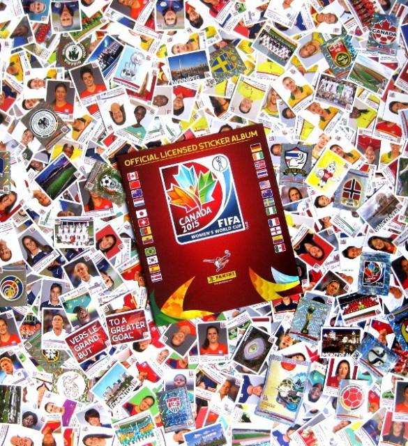 Een collage van stickers uit het WK Vrouwenvoetbal 2015 in Canada! Foto - (c) Stickerpoint.net