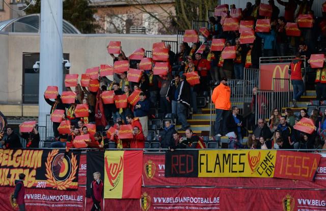 De fans van de Belgian Red Flames zijn ook welkom in Tartu maar daarvoor moeten ze dit keer wel ver reizen! Foto - David Catry