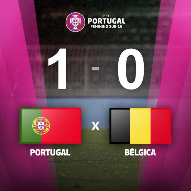 De eindstand tegen Portugal op de laatste speeldag van het U16 Development Tournament! Foto - (c) FPF
