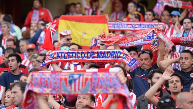 De fans van Atlético Madrid ook massaal aanwezig in San Siro voor de finale van de UEFA Champions League 2016! Foto - Sportpix.be/David Catry