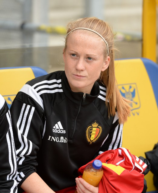 Silke Demeyere gaat vanaf dinsdag 31 mei 2016 mee met de Belgian Red Flames richting Estland! Foto - Sportpix.be/David Catry