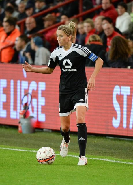 Kathrin-Julia Hendrich, geboren in Eupen, won in 2015 de UWCL met 1.FFC Frankfurt! Foto - Sportpix.be/Dirk Vuylsteke