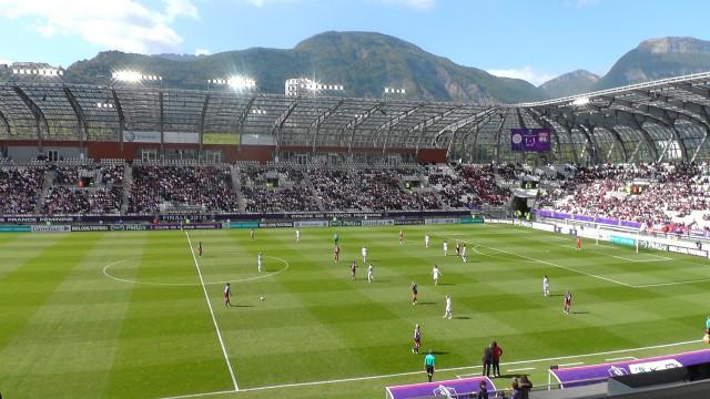 De Franse bekerfinale met de Alpen op de achtergrond! Foto - (c) MamPict