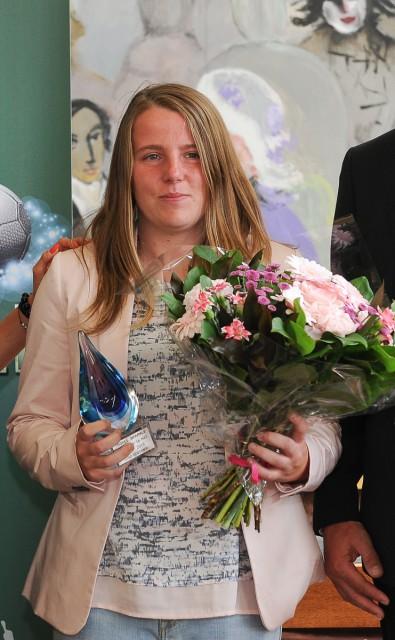 Lucinda Michez (Kontich) was de beste schutter in de Belgische eerste klasse! Foto - Sportpix.be/Dirk Vuylsteke