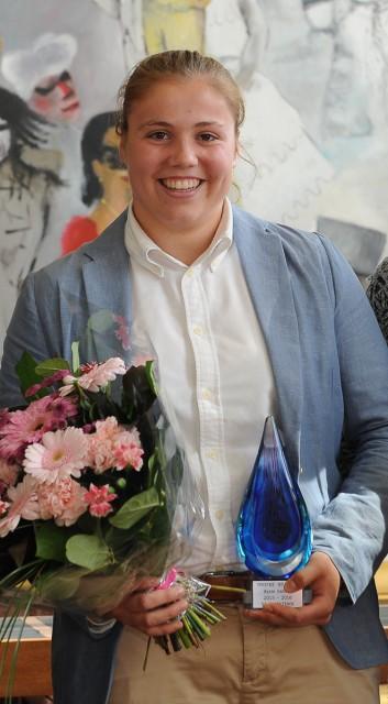 Justien Odeurs (Lierse) werd verkozen tot beste doelvrouw van 2016. Foto - Sportpix.be/Dirk Vuylsteke