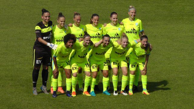 KAA Gent Ladies lukte meteen 4 doelpunten op DVC Eva's Tienen! Foto - Vrouwenteam.be/MaMPict