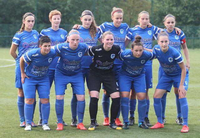 KRC Genk Ladies bij de aftrap van het seizoen 2016-17! Foto - Vrouwenteam.be/Paul Dijkmans