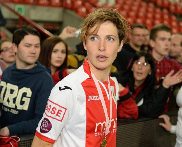 Imke Courtois gaf de vrouwelijke voetbalkennis over het voetbalspelletje een enorme boost! Foto - Sportpix.be/David Catry