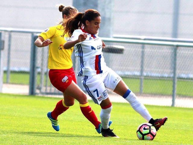 Amel Majri scoorde het tweede doelpunt tegen Albi! Foto - (c) Vrouwenteam.be / Maya Mans