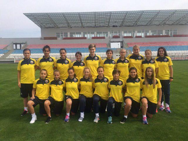 De Roemeense selectie poseert in Stara Pazova voor aanvang van de eerste EK-kwalificatieronde bij de U17! Foto - (c) FRF - Florin Pater