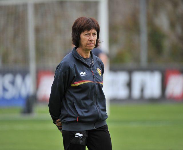 Bondscoach Joelle Piron loodste de Belgische U17 in 2013 naar een vierde plaats op het EK! Foto - Sportpix.be/David Catry