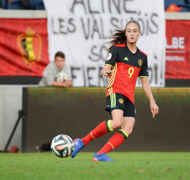 Tessa Wullaert is de 'Queen of the assists' in de volledige EK-kwalificatiecampagne 2017! Foto - Sportpix.be / Dirk Vuylsteke