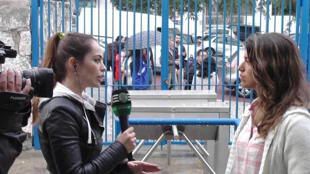 Solange Carvalhas (ex-RSC Anderlecht) aan het woord voor de wedstrijd bij de tv-zender van haar Portugese club! Foto - (c) Vrouwenteam.be / MaMPict