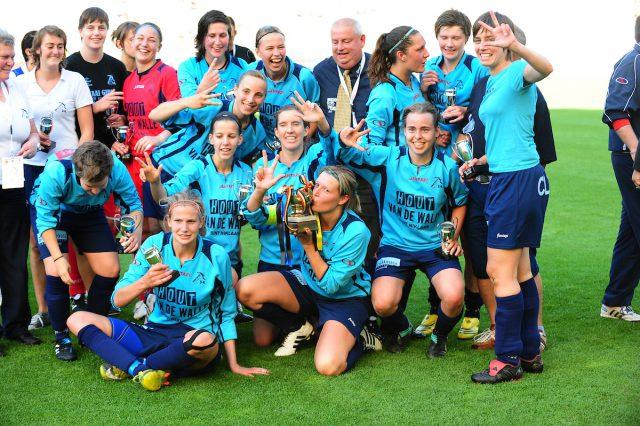 21 mei 2011: Sinaai Girls bij de derde en laatste bekertriomf in het Koning Boudewijnstadion! Foto - (c) Sportpix.be / David Catry