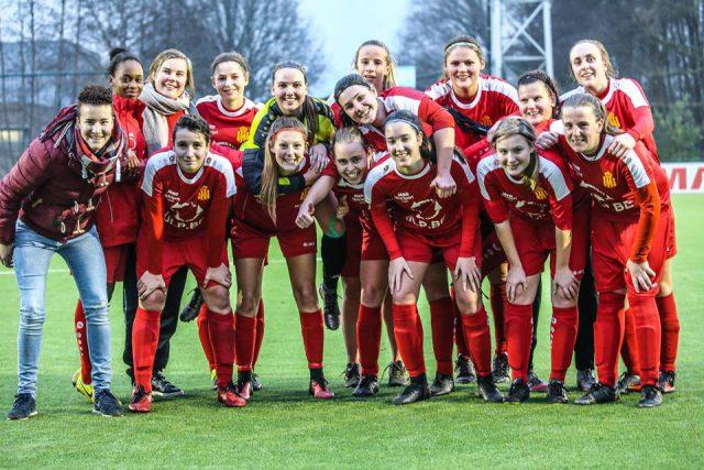 Kontich is blij na de stuntoverwinning op bezoek bij KAA Gent Ladies B! Foto - (c) LSK