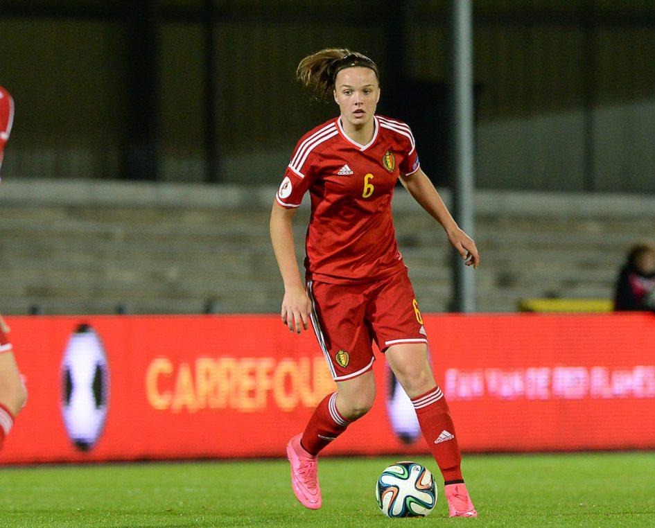 Belgian Red Flame Tine De Caigny is straks met RSC Anderlecht te zien in de Super League! Foto - (c) Sportpix.be / David Catry