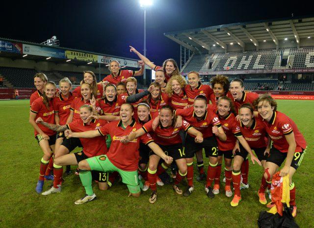 De Belgian Red Flames dankzij hun eerste kwalificatie voor een groot tornooi nu ook beste vrouwelijke sportploeg van het jaar! Foto - (c) Sportpix.be / David Catry