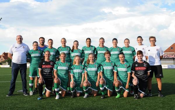 Het team van OH Leuven mag de nieuwe Super League Vrouwenvoetbal 2015-16 openen met een thuiswedstrijd tegen RSC Anderlecht. PHOTO DIRK VUYLSTEKE